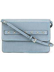 Red Valentino Studded Crossbody Bag Blue