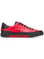 Moschino Two Tone Logo Sneakers Red