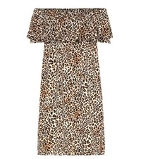 Velvet Taye Leopard Print Dress Brown