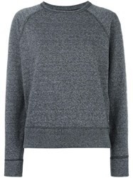 Rag And Bone Jean Eyelets Detailing Sweatshirt Grey