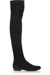 Robert Clergerie Fetej Stretch Suede Over The Knee Boots