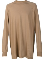Rick Owens Drkshdw Oversized Longsleeved T Shirt Brown