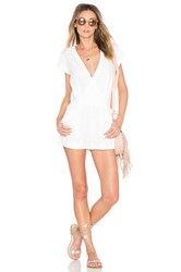 Twelfth St. By Cynthia Vincent Surplus Belted Romper White