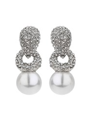 Mikey Twisted Rope Pearl Drop Crystal Earring N A N A