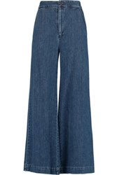 Sea High Rise Cropped Flared Jeans Mid Denim