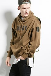 Forever 21 Cross Colours Army Hoodie Olive
