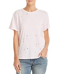 Michelle By Comune Rayle Distressed Tee Pink