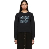 Rag And Bone Black 'Outer Space' Sweatshirt