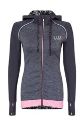 Elle Sport Hooded Performance Sports Jacket Multi Coloured Multi Coloured