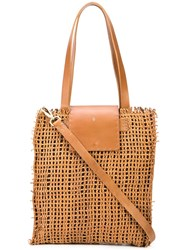 Henry Beguelin Mimosa Tote Bag Brown