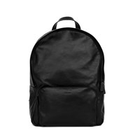 Xenab Lone Black Calfskin Leather Backpack