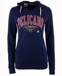 Adidas Women's New Orleans Pelicans Mesh Arch Hooded Sweatshirt Navy