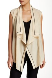 Magaschoni Waterfall Cashmere Sleeveless Cardigan Multi