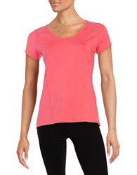 Calvin Klein Mesh Back Athletic Tee Neon Calypso