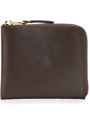 Comme Des Garcons Wallet Zip Around Wallet Brown