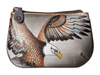 Anuschka 1107 American Eagle Coin Purse Pewter