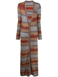 Jacquemus La Robe Striped Knitted Dress Red