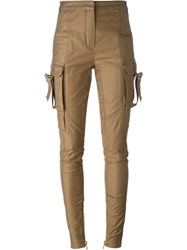 Balmain Skinny Trousers Brown