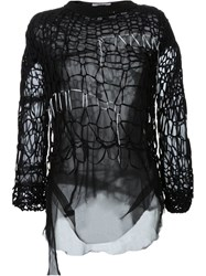 A.F.Vandevorst Light Knit Top Black