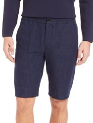 Paul Smith Tonal Palm Tree Shorts Navy