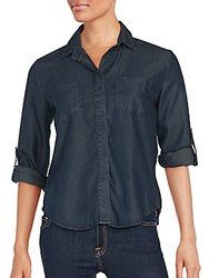 Saks Fifth Avenue Red Riley Relaxed Top Overdyed Indigo