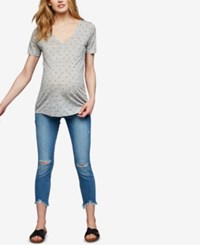 A Pea In The Pod Paige Denim Maternity Distressed Skinny Jeans Janis Destructed