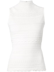 Alexander Mcqueen Lace Knit Tank Top White