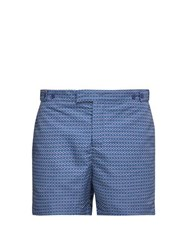 Frescobol Carioca Ipanema Print Tailored Swim Shorts Navy