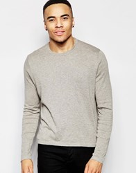 Asos Cotton Jumper In Cropped Fit Grey