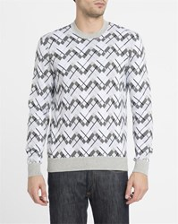 Lacoste Grey All Over Pattern Round Neck Sweater