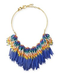Lele Sadoughi Striped Fringe Collar Necklace