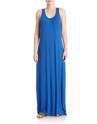 Lord And Taylor Petite Ruched Maxi Dress True Blue