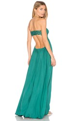 Tiare Hawaii Kai Strapless Maxi Dress Green
