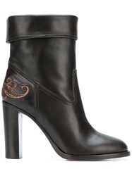 Etro Ankle Boots Brown