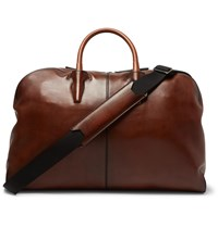 Berluti Bowling Gm Leather Holdall Brown