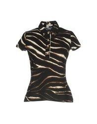 Henry Cotton's Polo Shirts Dark Brown