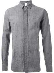 Forme D'expression Distressed Shirt Grey