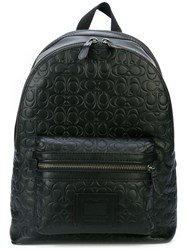 Coach Signature Embossed Academy Backpack Black