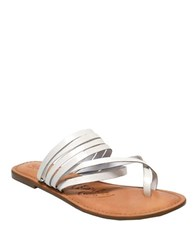 Naughty Monkey Chrissy Leather Sandals White