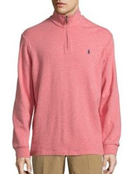Polo Ralph Lauren Cotton Blend Half Zip Pullover Rose Heather