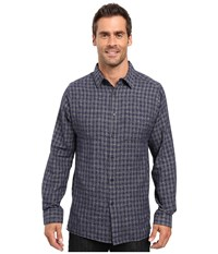 Kenneth Cole Long Sleeve Button Down Collar Heather Ombre Nightshade Combo Men's Long Sleeve Button Up Gray