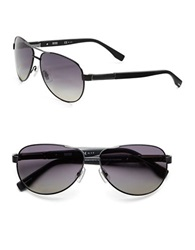 Hugo Boss 62Mm Aviator Sunglasses Black