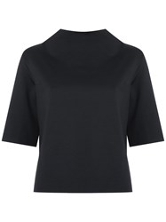 Martha Medeiros Funnel Neck Top Women Polyamide Spandex Elastane Viscose 38 Black