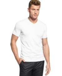 Alfani Big And Tall T Shirt Stretch V Neck Tee Bright White