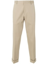 Theory Tapered Trousers Nude And Neutrals