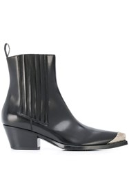 Sartore Western Style Ankle Boots Black