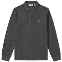 Lacoste Long Sleeve Classic Pique Polo Grey