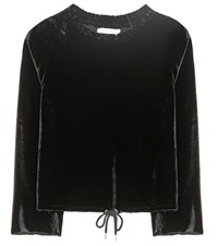 See By Chloe Velvet Blouse Black