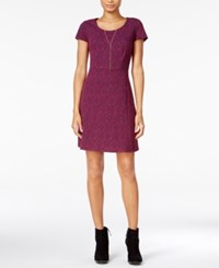 Maison Jules Printed Fit And Flare Dress Only At Macy's Cherry Plum Com