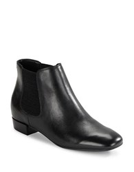 Karl Lagerfeld Ivonne Leather Ankle Boots Black